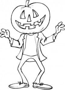 plansa de colorat Halloween 1042