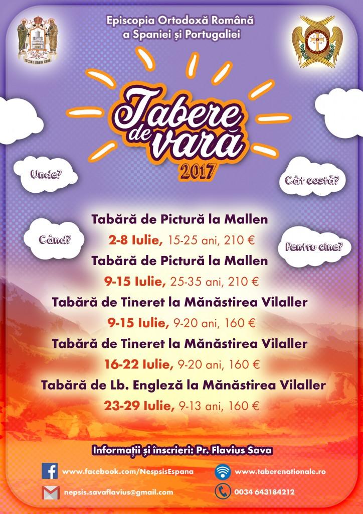 Afis Tabere Spania