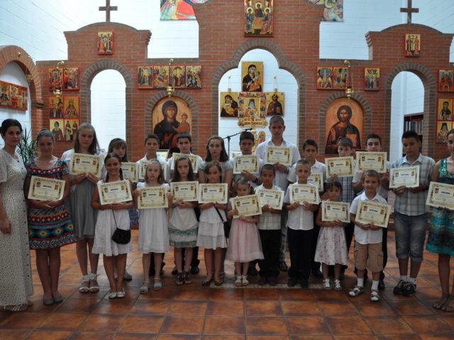 Coslada - Elevii Scolii parohiale Sf. Martiri Brancoveni