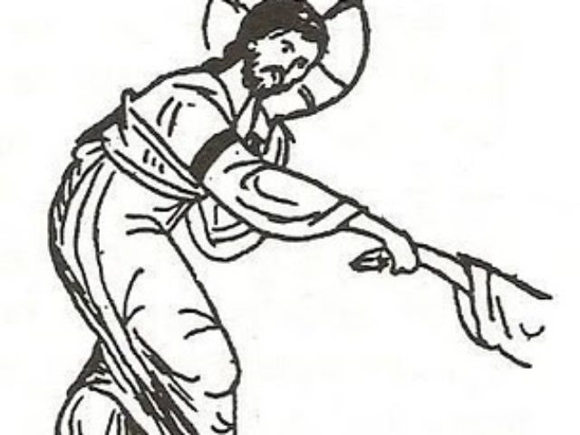detaliu-desen-Inviere-Hristos-intinde-mana