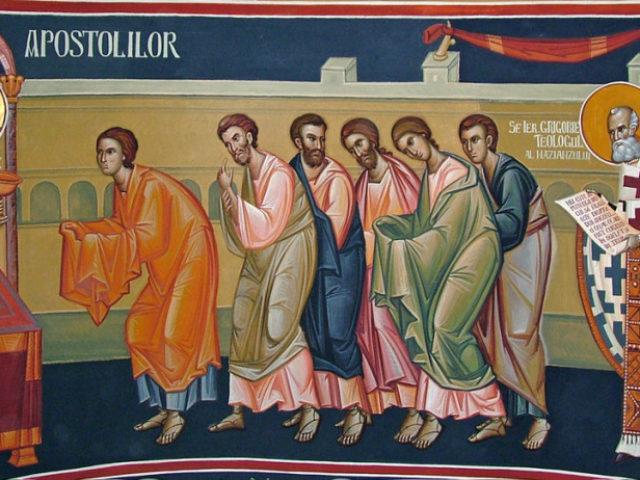 """Bucuresti-biserica-ortodoxa-Sfanta-Treime-a-spitalului-""""Gr-Alexandrescu""""-2005-fresca-altar-10-1024x462"""