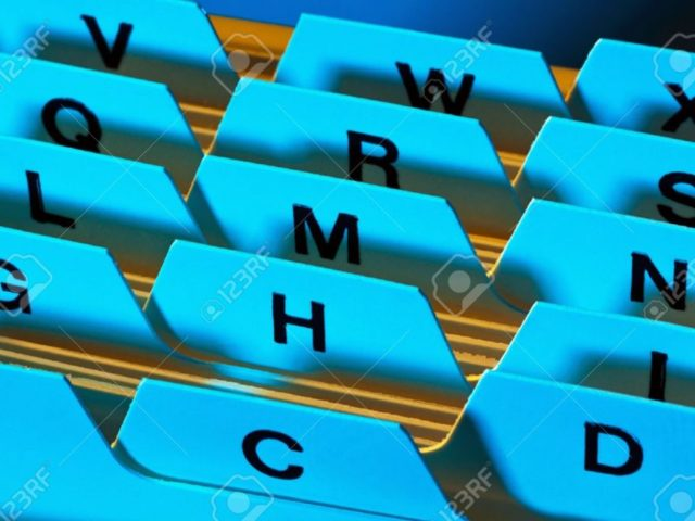 9550630-Alphabetical-index-for-sorting-cards-Customer-addresses-and-patient-data--Stock-Photo