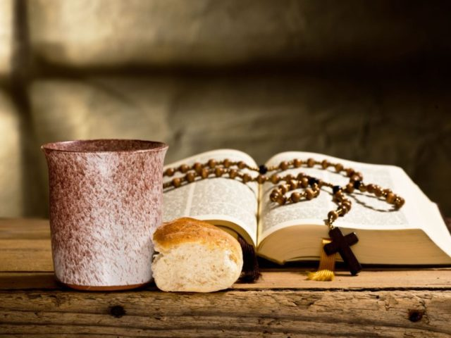 26408498 - bible and prayer beads