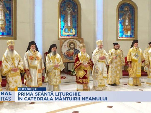 Prima Sfântă Liturghie în Catedrala Mântuirii Neamului