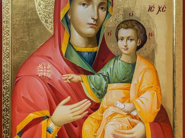 O-copie-a-icoanei-Maicii-Domnului-Prodromița-lucrată-la-Mănăstirea-Putna-va-ajunge-în-județul-Ialomița-1